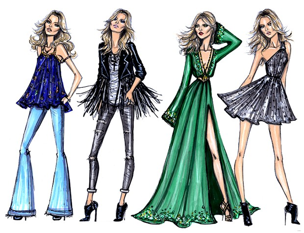 kate moss illustrazione