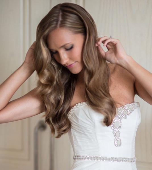 sposa capelli ondulati romantico