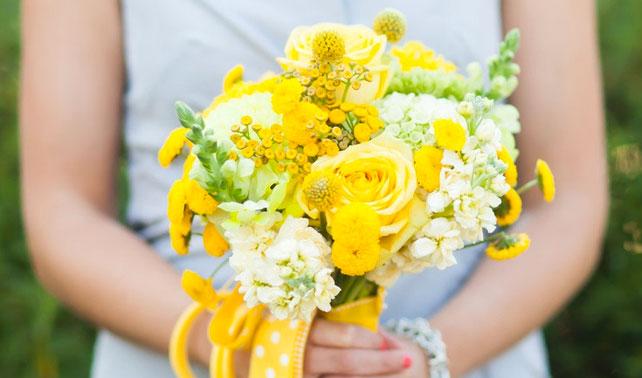 bouquet sposa giallo