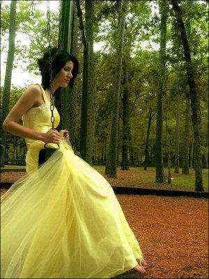 dress wedding yellow