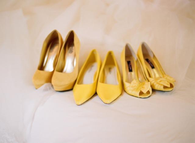 scarpe matrimonio gialle