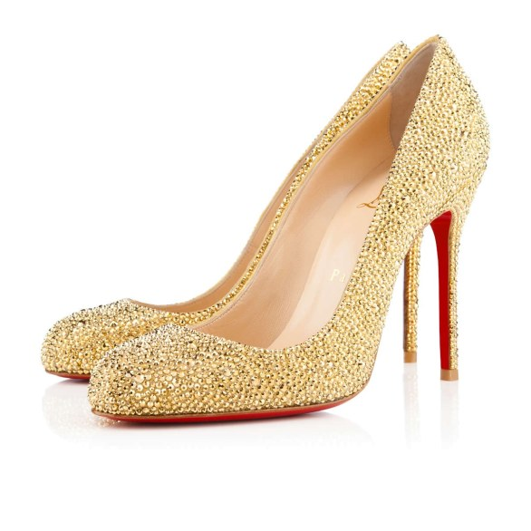 scarpe sposa loubotuin oro