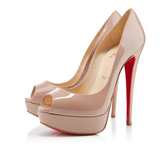 scarpe sposa loubotuni nude