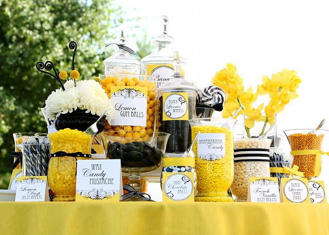 sweet yellow wedding