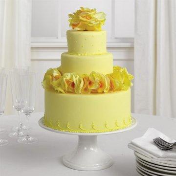 torta matrimoio gialla