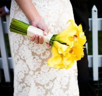 wedding bouquet yellow