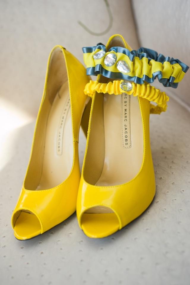 wedding shoes yellow