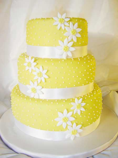 wedding yellow cake