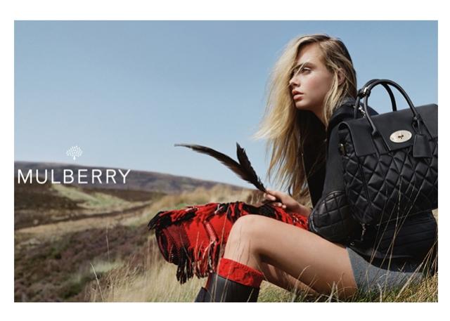 cara delvigne per mulberry inverno 2014