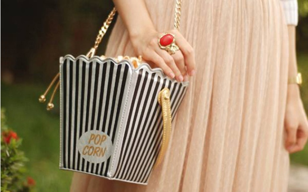kate spade clutch pop corn