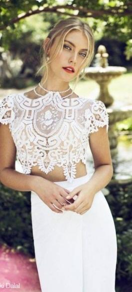 abiti da sposa due pezzi 2