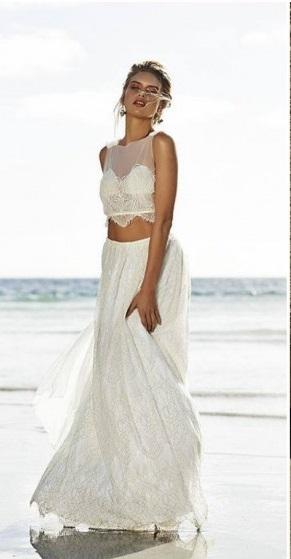 abito da sposa due pezzi 2