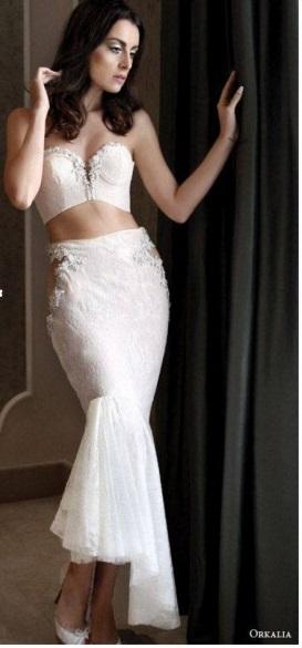 abito da sposa due pezzi 2015