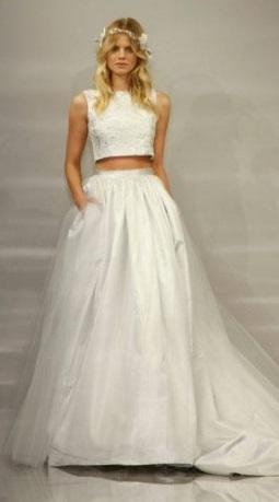abito da sposa due pezzi 5