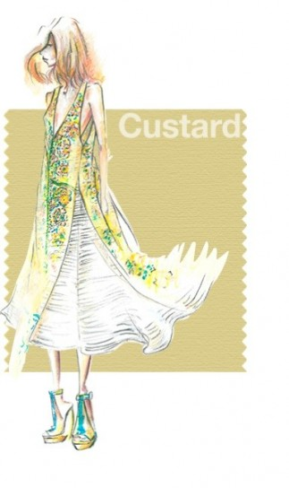primavera pantone 2015 custard