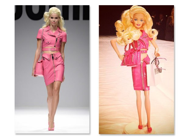 sfilata moschino barbie