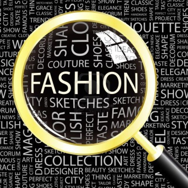 8840287-fashion-magnifying-glass-over-background-with-different-association-terms-vector-illustration