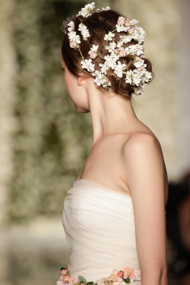 acconciatura sposa bridal fashion week 2014