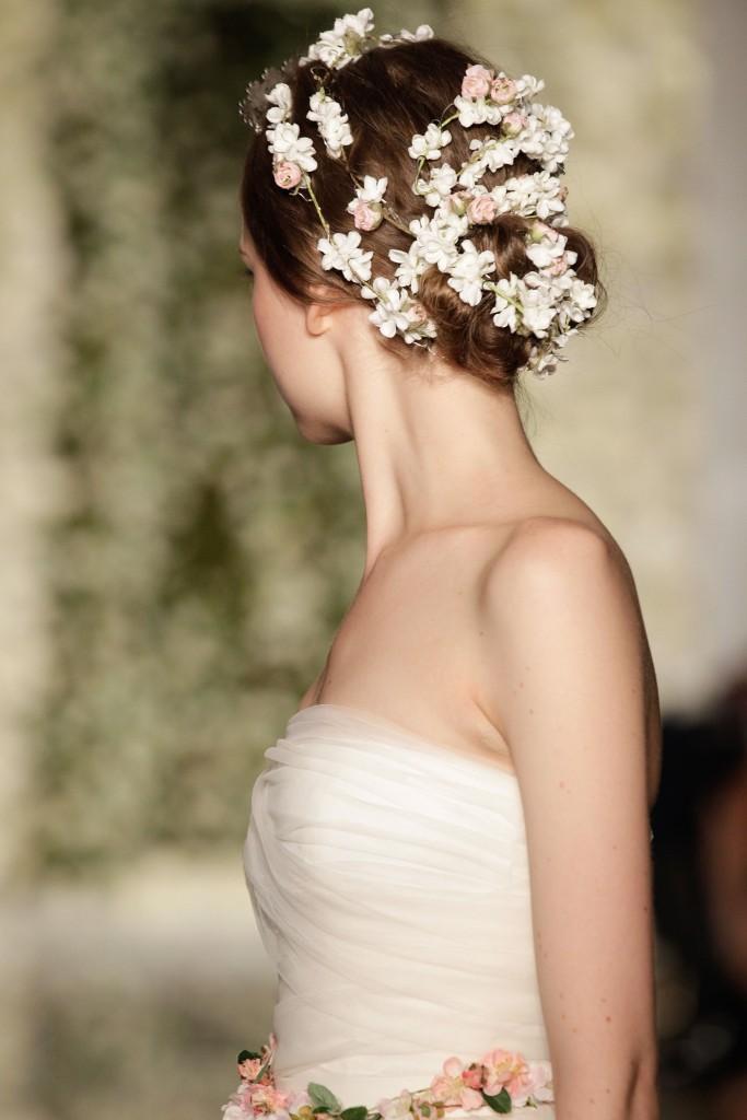 acconciatura sposa bridal fashion week 2014