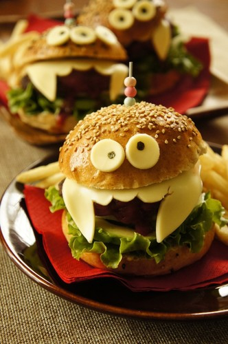 hamburger halloween