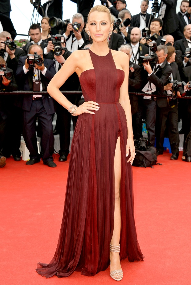 blake lively dress marsala