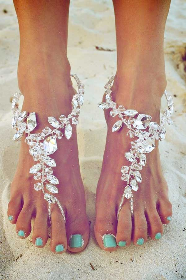 barefoot wedding shoes