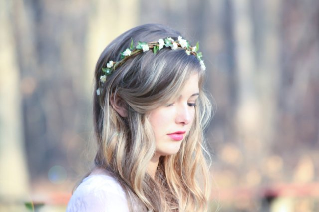 capelli sposa country chic