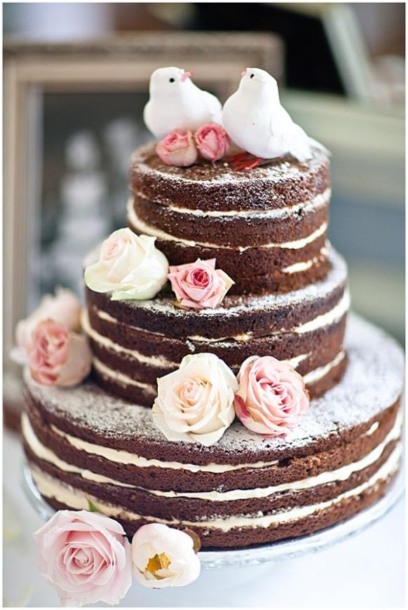 wedding nude cake