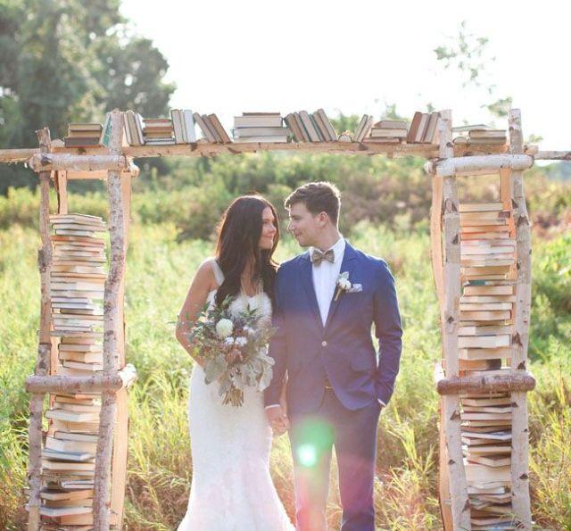 altare di libri matrimonio