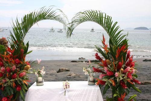 altare in palme matrimonio