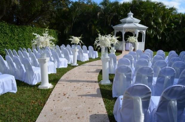 altare matrimonio shabby chic