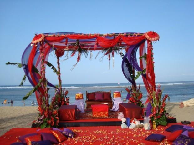 altare matrimonio stile indiano