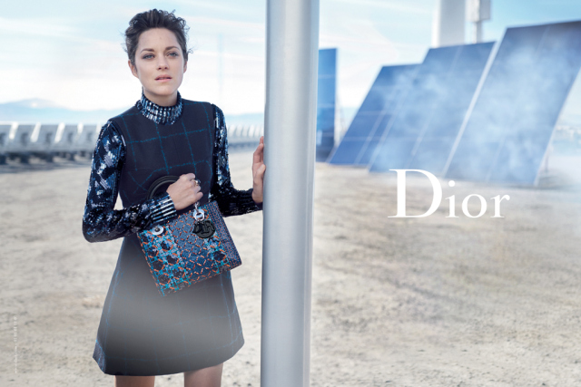 Marion Cotillard in the latest Lady Dior campaign, shot by Peter Lindbergh.