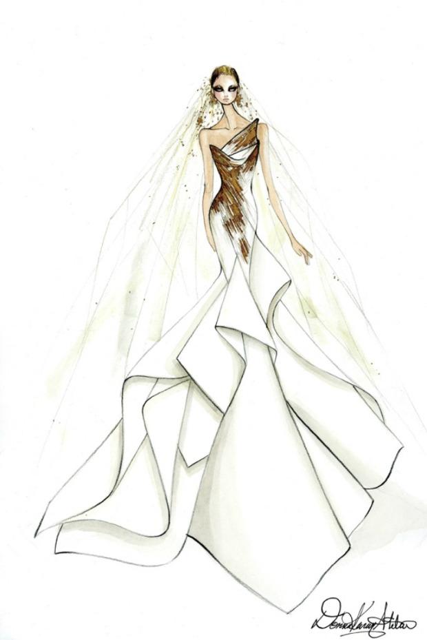 abito sposa lady gaga donna karan