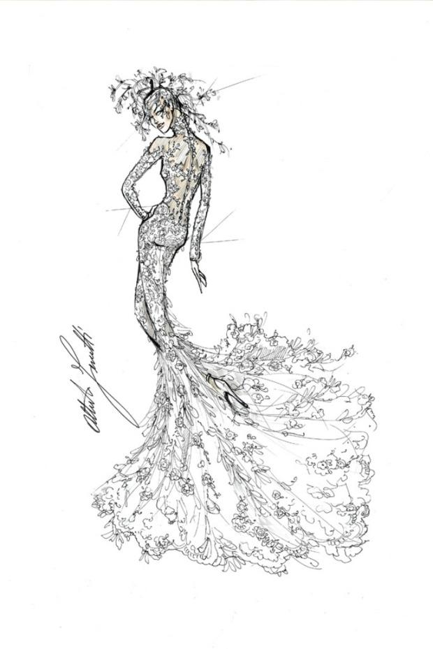 alberta ferretti abito da sposa lady gaga
