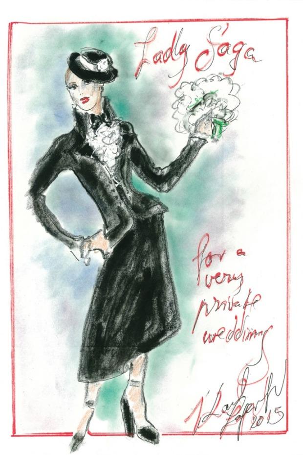 chanel weddin dress lady gaga