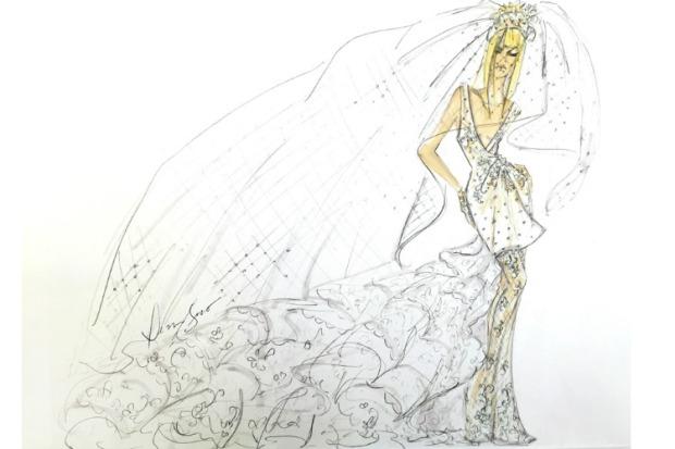 dennis basso lady gaga weddin dress