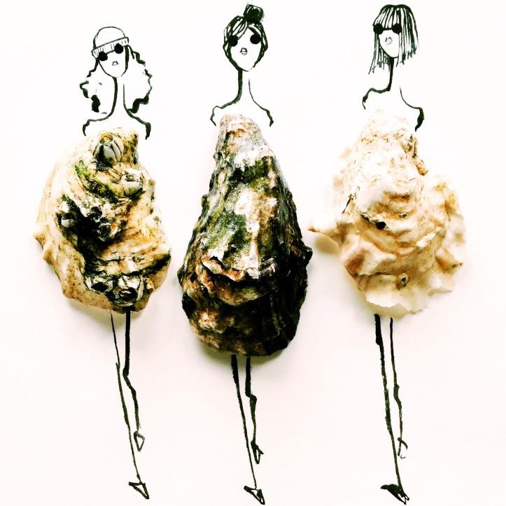 gretchen roehrs illustrazione con ostriche