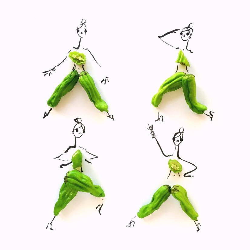 gretchen roehrs illustrazione fashion con peperoncino