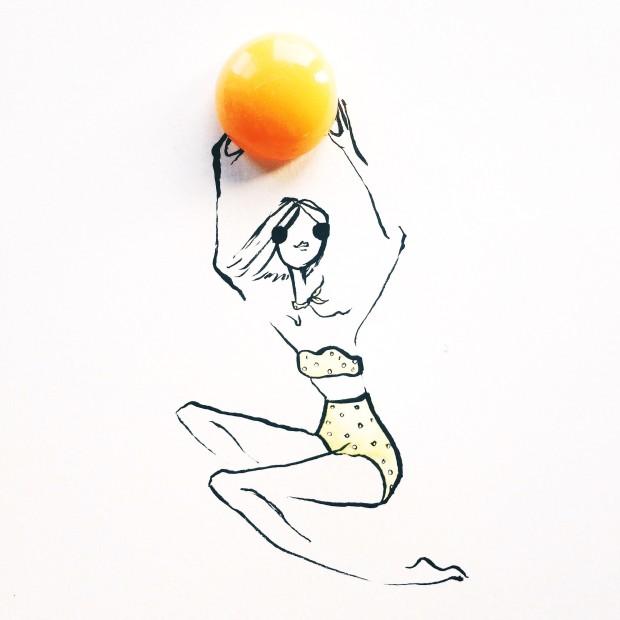 gretchen roehrs illustrazioni frutta