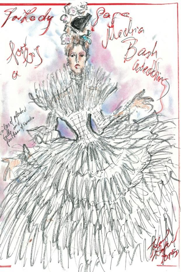 karl lagerfedl wedding dress lady gaga