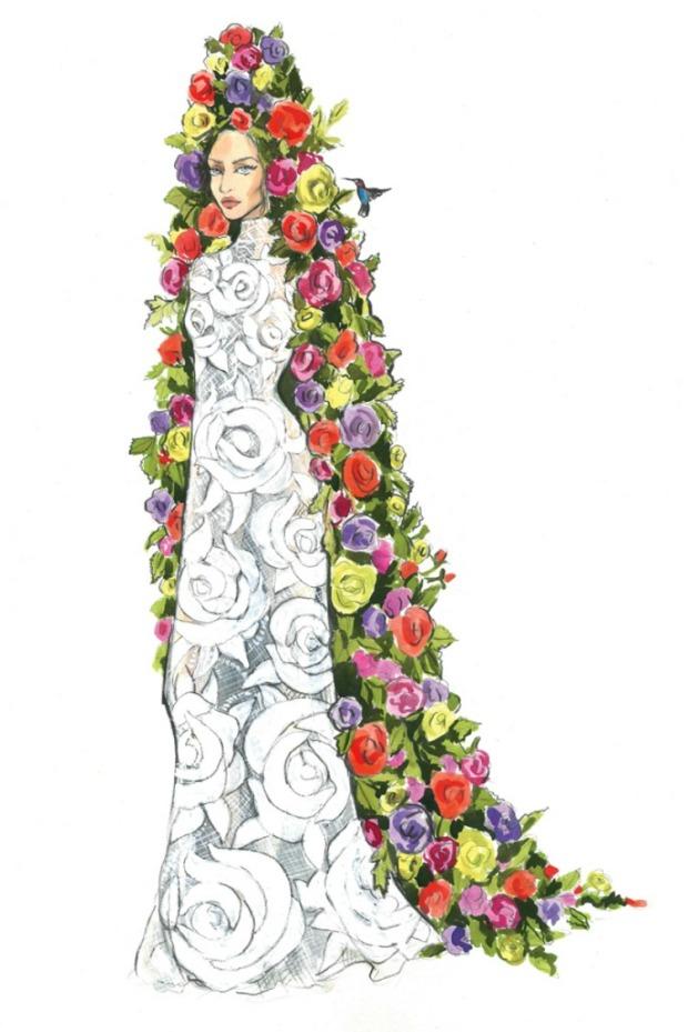 mara hoffman lady gaga wedding dress