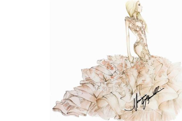 monique lhuillier abito sposa lady gaga