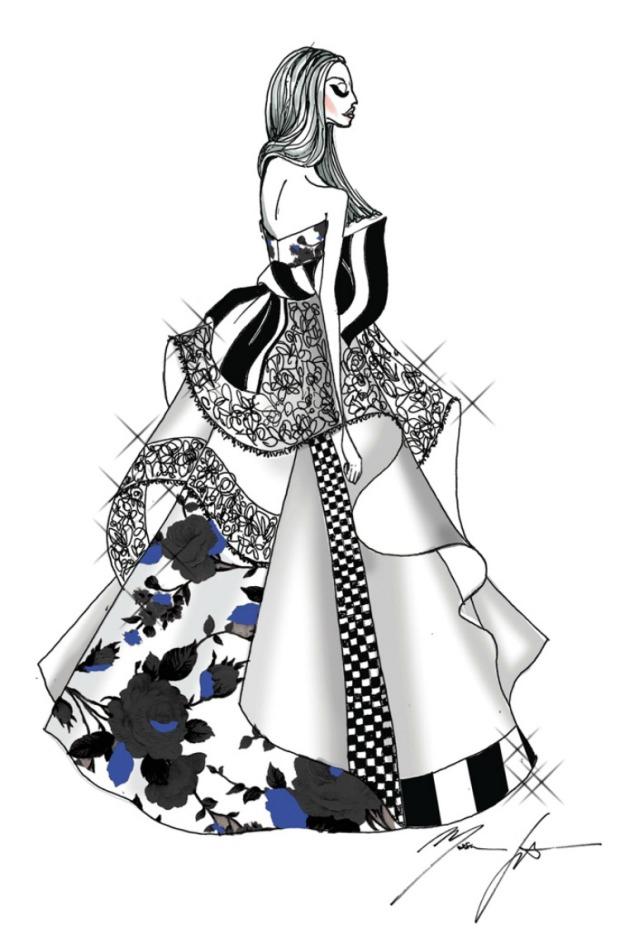 MSGM WEDDING DRESS LADY GAGA