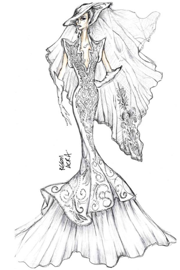 reem acra wedding dress lady gaga