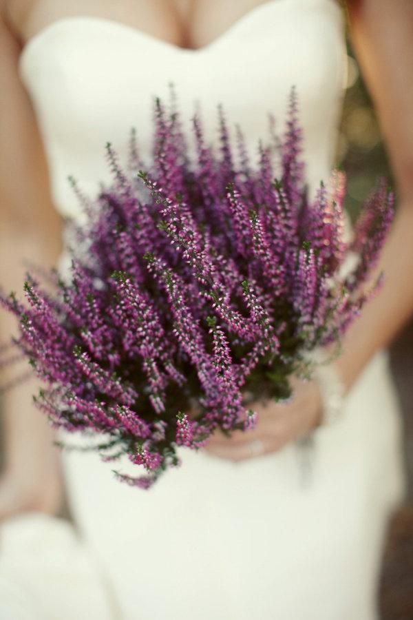 sposa bouquet lavanda
