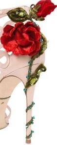 tacco con rose keira d&g
