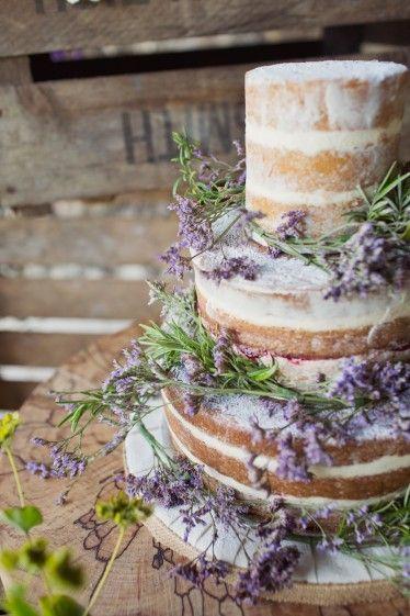 wedding cake lavander