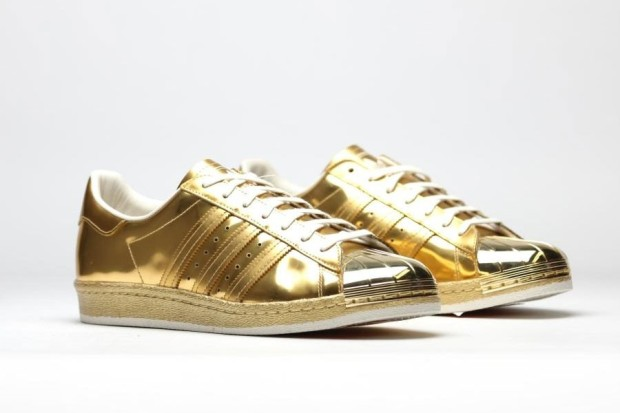 adidas superstar 80 -etallic gold