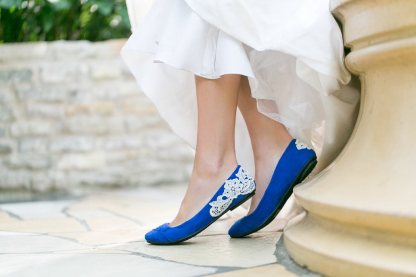 wedding flat blue